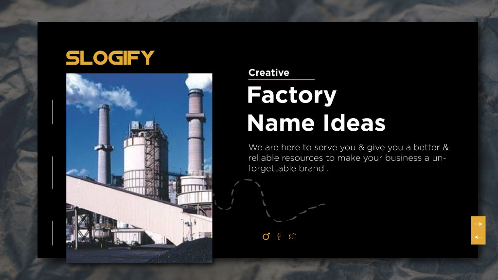 factory name ideas