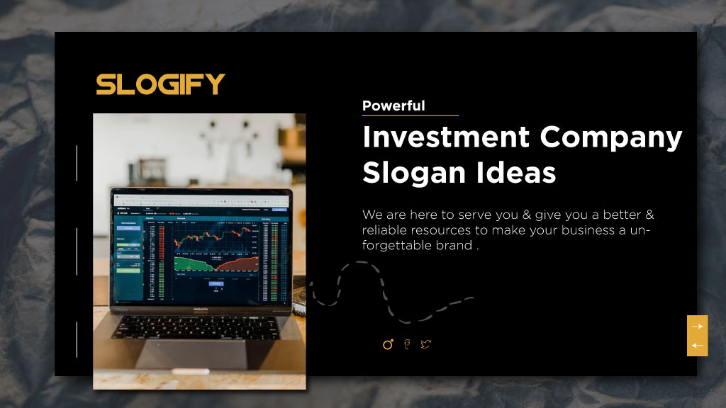 investment company slogans