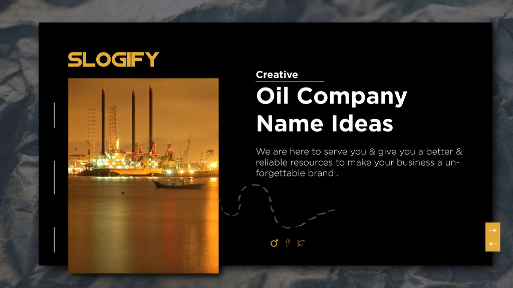 oil company name ideas