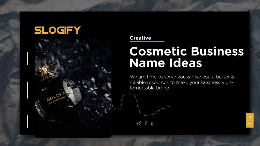 cosmetics name ideas