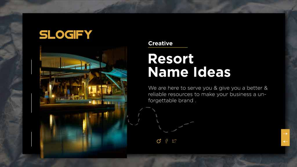 resort name ideas